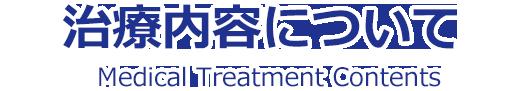 治療内容についてについて|Medical Treatment Contents